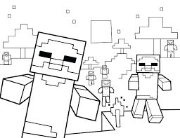 Diamond Steve Coloring Pages Free Book Minecraft