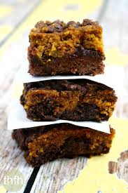 Marbled Pumpkin Cheesecake Brownies by Fudgy Gluten Free Vegan Pumpkin Swirl Brownies The Healthy