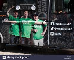 100 Food Truck Tv Show Atlantic City New Jersey USA 31st July 2014 Wahlburgers