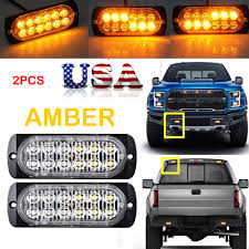2Pcs AMBER 12 LED Strobe Light Bar Truck Beacon Flash Warning ... Light Truck Strobe Ford Expands Firstever Factoryinstalled Warning Led Lights 12v 24v 18w 6 Waterproof Car Emergency Beacon Cyan Soil Bay 4 Rv Flash Bar 2016 F150 Adds Builtin For Fleet Vehicles Hideaway Automotives Hideaway Mini Vehicle Trailer Round Led For Trucks 4428 Watch Now Accsories 54 Blue Red Nwhosale New 2 X 48 96led Flashing 4led 19 Function Parts 26422rd Recon 2x22 Flasher Lamp Bars With