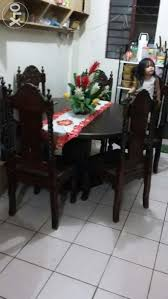 Six Seater Dining Table Set Solid Narra