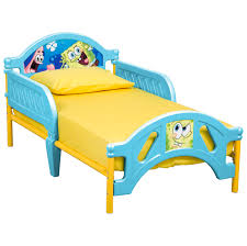 Delta Children SpongeBob SquarePants Plastic Toddler Bed, Yellow/Blue