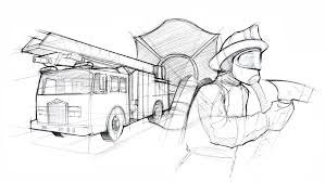 99 How To Draw A Fire Truck Step By Step Engine Sketch At PaintingValleycom Explore Collection Of