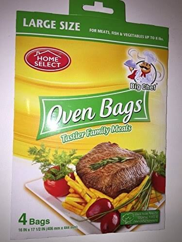 "Home Select Oven Bags - Large, 16"" x 17.5"", 4 Bags"