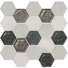 ms international circa zirconia hexagon 12 in x 13 in x 8 mm