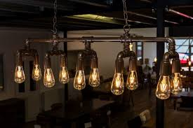pipework style ceiling light industrial look light