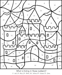 Color By Number Page Advanced Coloring Pages Free Printable Detailed