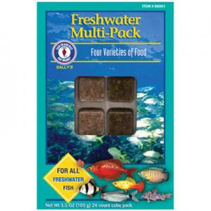 San Francisco Bay Brand Freshwater Multi-Pack Frozen Fish Food 3.5 oz