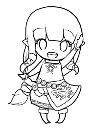 Zelda Coloring Pages Chibi