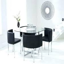 4 Dining Chairs Four Room Stowaway Table And In Black