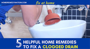 Home Remedy To Unclog A Clogged Sink by 5 Helpful Home Remedies To Fix A Clogged Drain Do It At Home