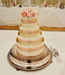 Shiny Silver Wedding Cake Stand