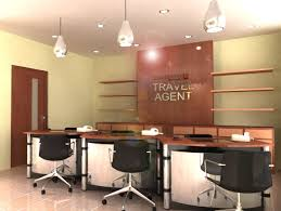 Bakery Shop And Travel Agent Office With Fully Wooden Furniture