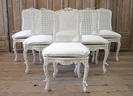 Set Of 6 French Country Painted Cane Back Dining Chairs ... Refinished Painted Vintage 1960s Thomasville Ding Table Antique Set Of 6 Chairs French Country Kitchen Oak Of Six C Home Styles Countryside Rubbed White Chair The Awesome And Also Interesting Antique French Provincial Fniture Attractive For Eight Cane Back Ding Set Joeabrahamco Breathtaking