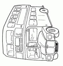 Coloring Page English Bus