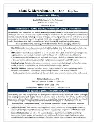 Resume Examples For Executives Coo Sample Resume Executive Resume