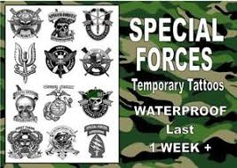 Image Is Loading SPECIAL FORCES Temporary Tattoos SAS NAVY ARMY AIR