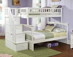 Jordans Furniture Bunk Beds by Amazon Com Columbia Staircase Bunk Bed Twin Over Full White