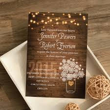 Rustic Wedding Invites Stringlight Snowflake Winter Invitation Ewi410 As