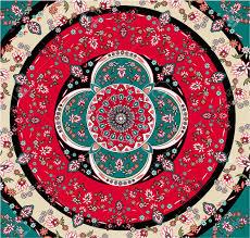 Square Oriental Carpet Vector Stock