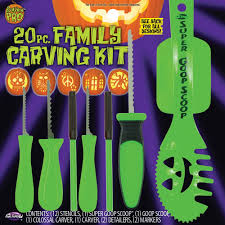 Superhero Pumpkin Carving Kit by Koz1 Halloween Decorations