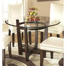 Round Dining Room Set For 4 by Round Glass Dining Table With Wood Legs Rio Round Glass Dining