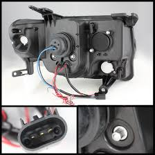 12 ford escape eye halo led projector headlights black