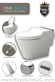 onedrous the royal line integrated toilet bidet bathroom