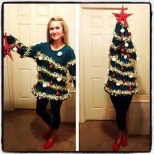 Saran Wrap Christmas Tree With Ornaments by The Best Ugly Christmas Sweaters And How To Make Your Own Tlcme