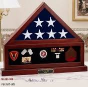 Combination Flag Display Case Shadow Box Medal And Pedestal
