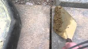 Patio Slabs by How To Do Pointing Or Fill The Gaps Between Paving Slabs Or Patio