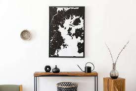 stilvolle und moderne einrichtung des wohnzimmers mit