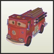New Paper Craft Disney Pixar Cars Red Free Papercraft Download On PaperCraftSquare