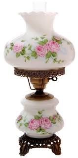 Fenton Fairy Lamp Insert by Pink Red Roses Medium Hurricane Night Light Table Lamp I Had A