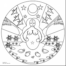 Marvelous Goddess Mandala Coloring Pages With Spring Color And Toddlers