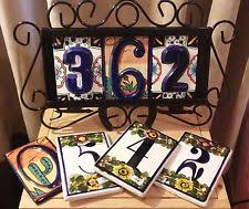 Mexican Tile House Numbers With Frame by Mexican Home Decor Ebay