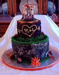 Deer Camo Wedding Cake