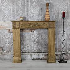 mucola kaminholzregal kamin attrappe kaminkonsole attrappe kaminzubehör antik deko wohnzimmer holz braun kaminumrandung dekokamin kaminsims