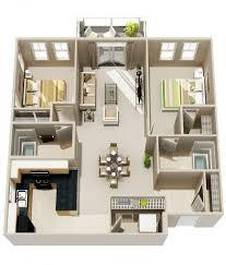 appartement deux chambres plan maison 3d d appartement 2 pièces en 60 exemples