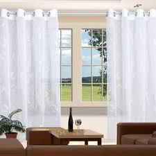 details zu langstore filia stickereistore ösenschal fertigstore gardine vorhang weiß