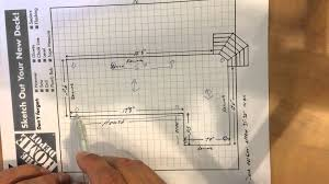 Distance Between Floor Joists On A Deck by How To Design A Deck Foundation Built On Piles Youtube