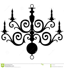 Drawn Chandelier Clip Art