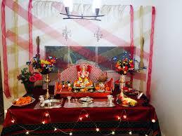 Varalakshmi Vratham Decoration Ideas Usa by Ganpati Decoration At Home For The Home Pinterest Decoration