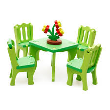 3D Wooden Table Chair Set Kitchen Pretend Play Toy For Kids