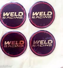 Image Is Loading WELD RACING WHEELS SET OF 4 EMBLEM WHEEL