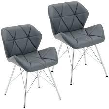 b ware 2er set stuhl esszimmerstuhl kunstleder grau konferenzstuhl metallbeine