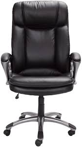 Serta Big And Tall Office Chair by Serta 43675 Faux Leather Big Tall Executive Chair Black Ebay