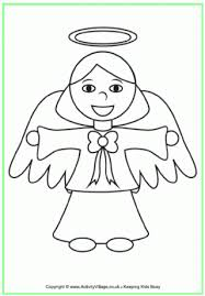 Angel Colouring Page 2