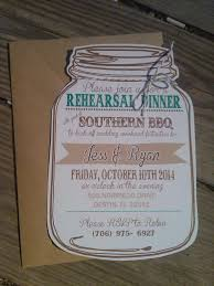 Mason Jar Rehearsal Dinner Invitation Rustic Party
