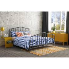 Walmart Queen Headboard And Footboard by 9 By Novogratz Bushwick Queen Metal Bed Gunmetal Gray Walmart Com